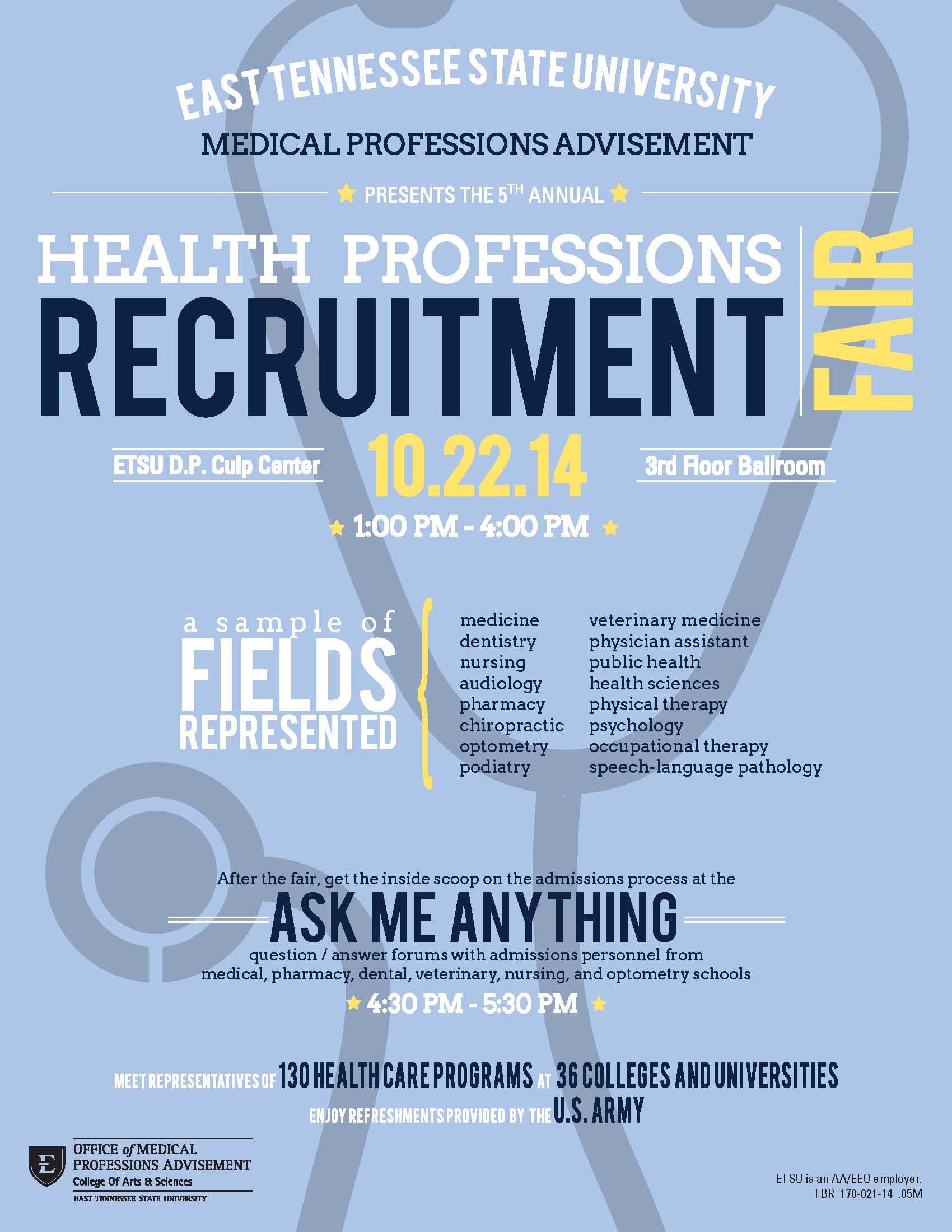 ETSU Health Professions Recruitment Fair
