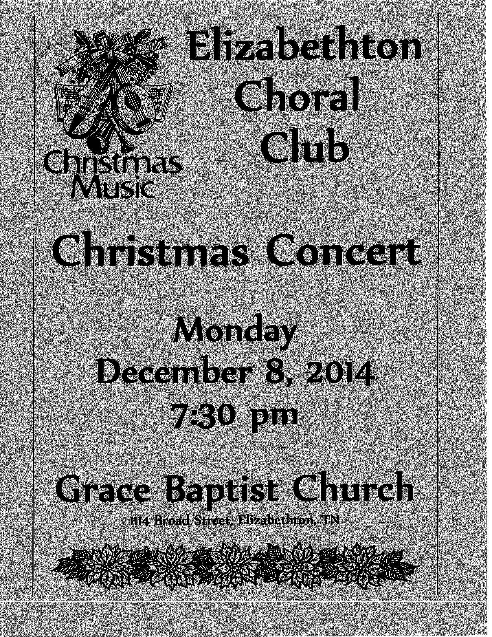 Elizabethton Choral Club Christmas Concert