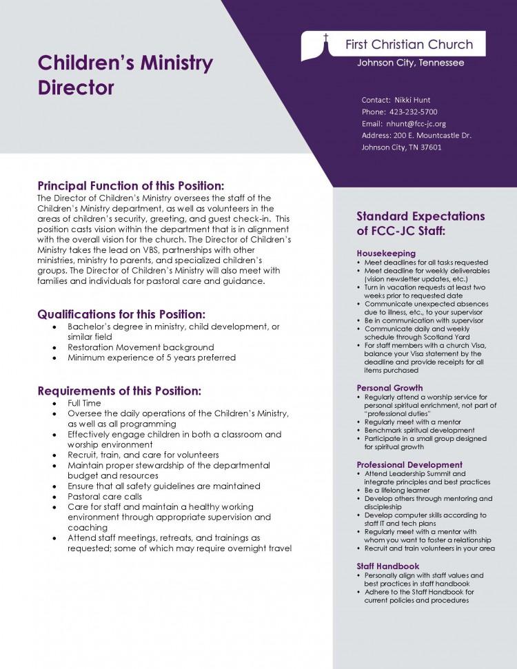 childrens-director_job-description