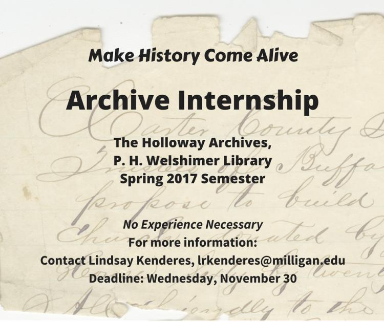 Archive internship